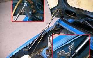 Газовый амортизатор на капот классики  — всё о ремонте лада