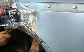 Как вытянуть кузов автомобиля, вытягиваем заднее крыло и стойку таврии — всё о ремонте лада