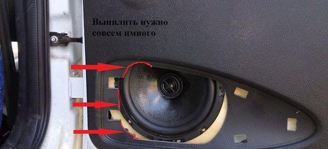 Установка динамиков в задние двери Лады Гранта - всё о ремонте Лада