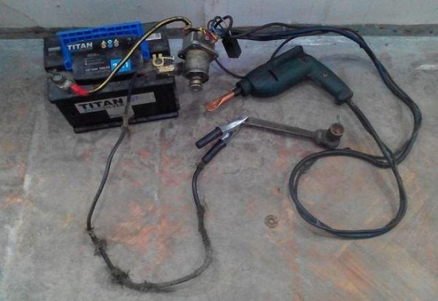 Дешевый споттер или аккумуляторный споттер своими руками - всё о ремонте Лада