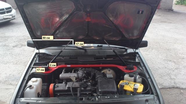 Газовый амортизатор на капот классики  - всё о ремонте Лада