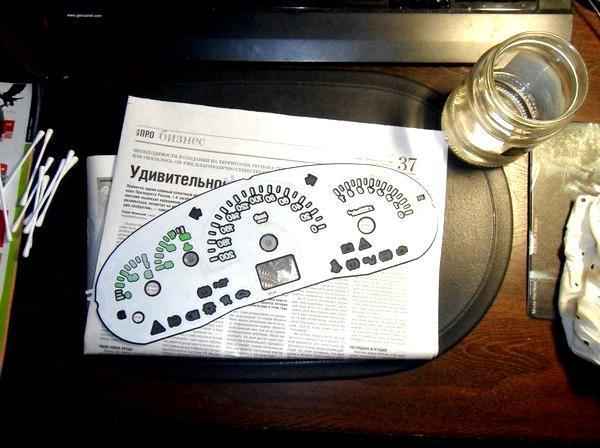 Подсветка приборов Приоры. Светодиоды - всё о ремонте Лада