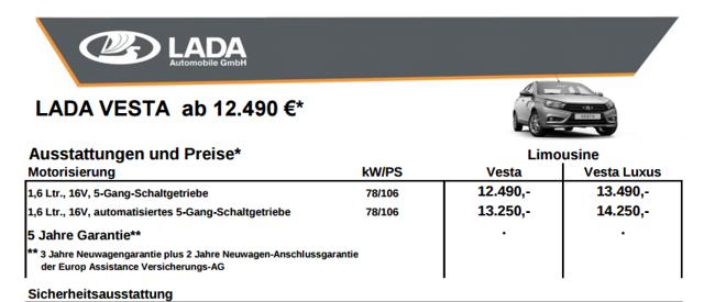 Лада Веста на германском рынке - всё о ремонте Лада