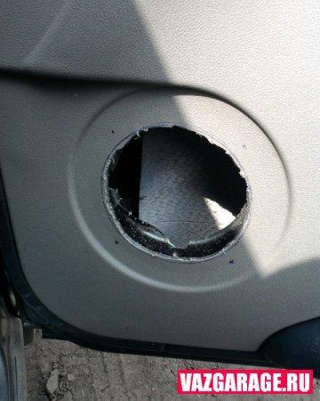 Динамики в передних дверях - всё о ремонте Лада